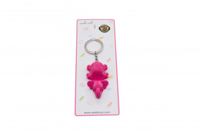 Elephant keychain & phone stand - Pink [2]