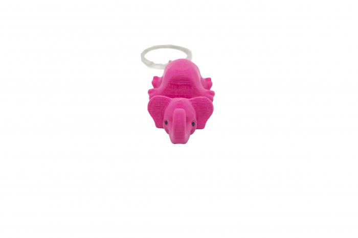 Elephant keychain & phone stand - Pink [0]