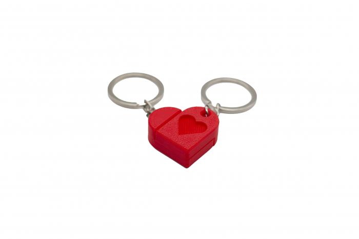 Heart bricks Couple keychain [0]