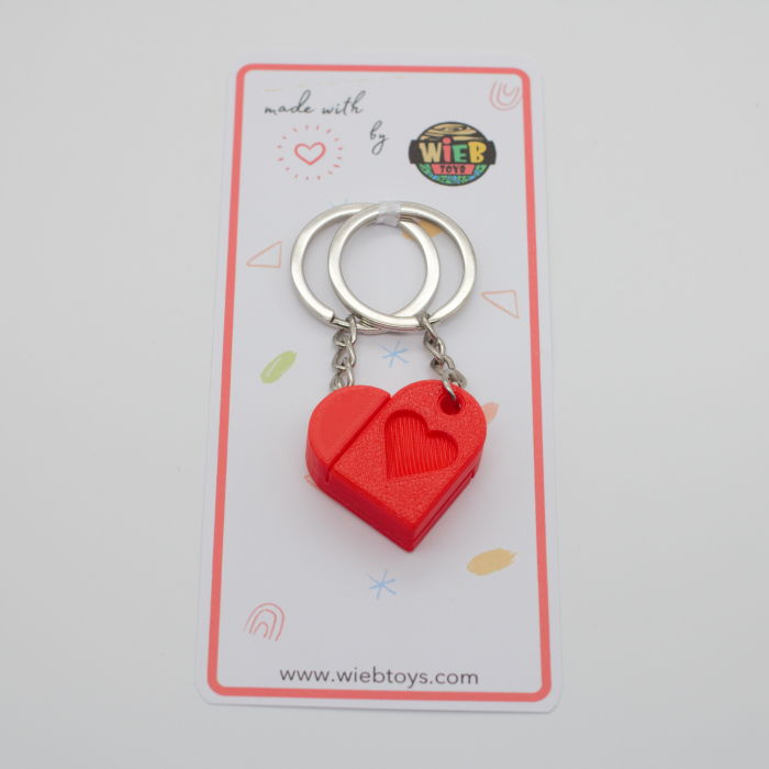 Heart bricks Couple keychain [2]