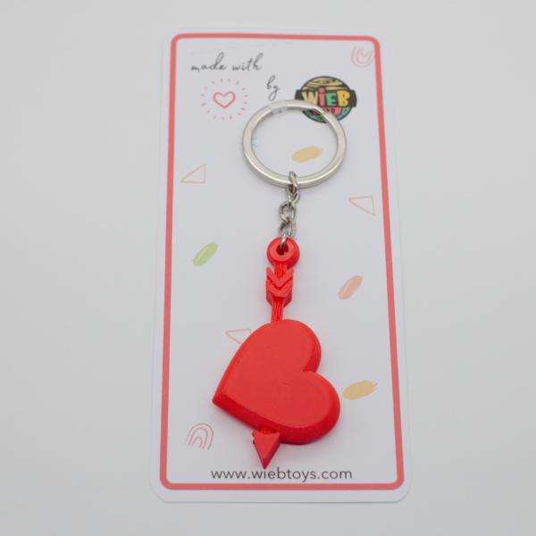 Heart with arrow keychain [1]