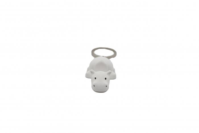 Hippo keychain & phone stand - Alb [0]