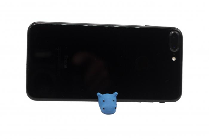 Hippo keychain & phone stand - Albastru [1]