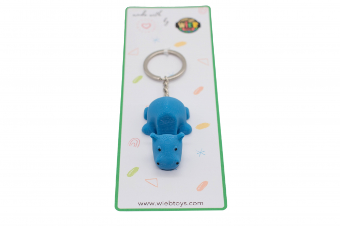 Hippo keychain & phone stand - Albastru [2]