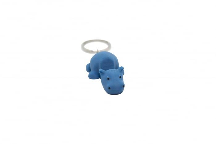 Hippo keychain & phone stand - Albastru [0]