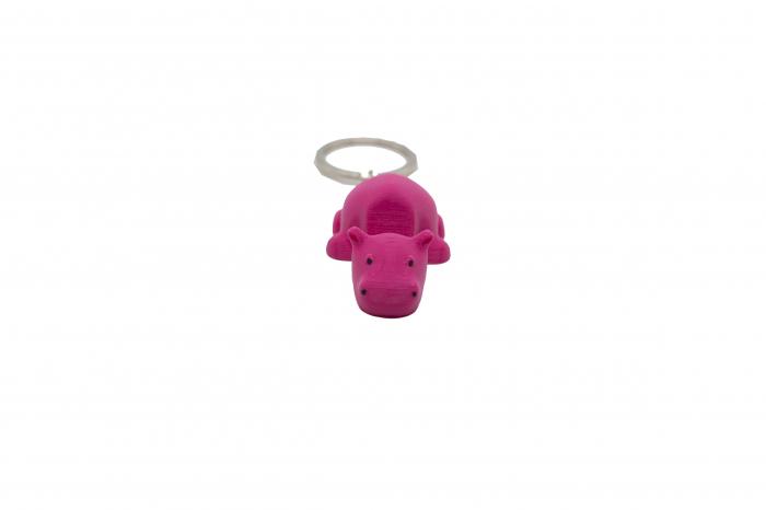 Hippo keychain & phone stand - Pink [0]