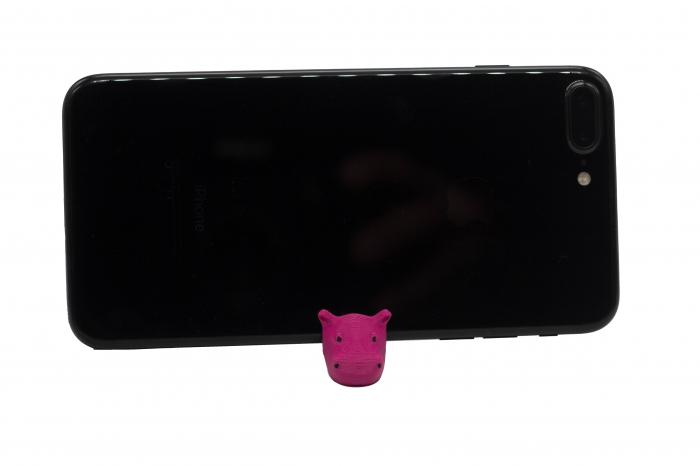 Hippo keychain & phone stand - Pink [1]
