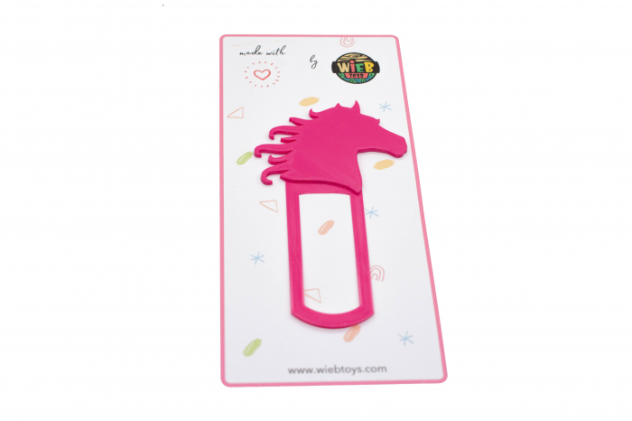Horse bookmark - pink [0]