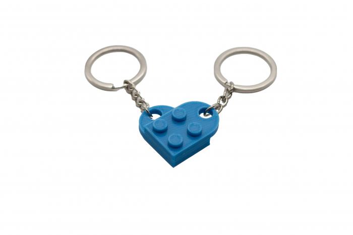 Lego couple keychain - albastru [0]