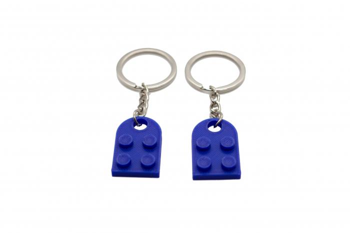 Lego couple keychain - albastru inchis [1]