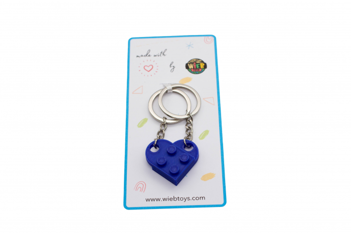 Lego couple keychain - albastru inchis [2]