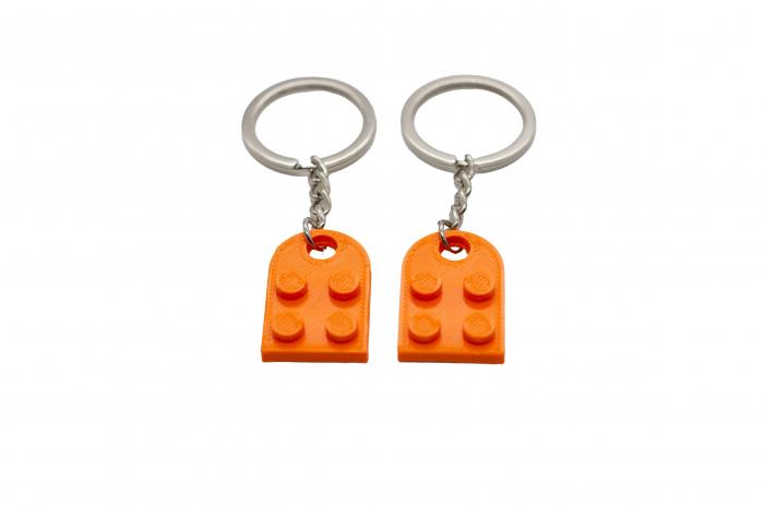 Lego couple keychain - orange [1]