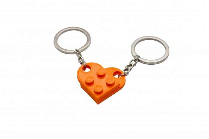 Lego couple keychain - orange [0]