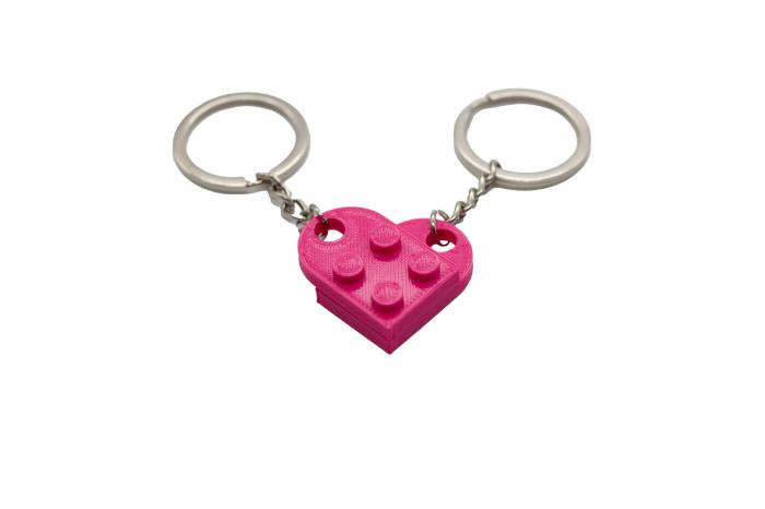 Lego couple keychain - pink [0]