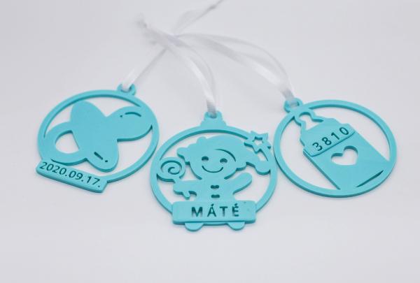 Ornament de brad personalizat cu nume - Baby boy [3]