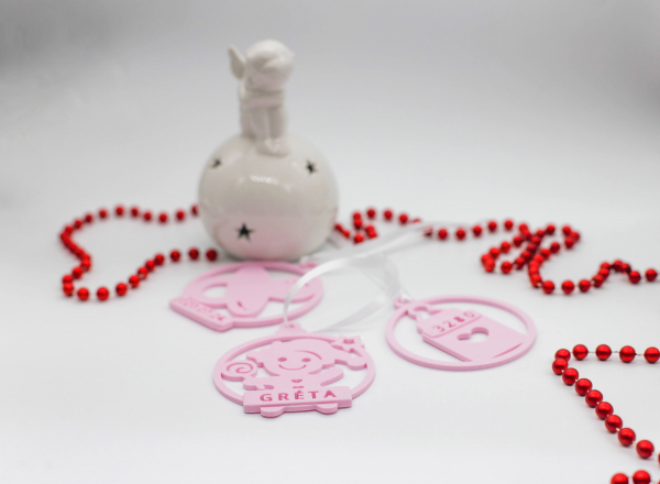 Ornament de brad personalizat cu nume - Baby girl [4]