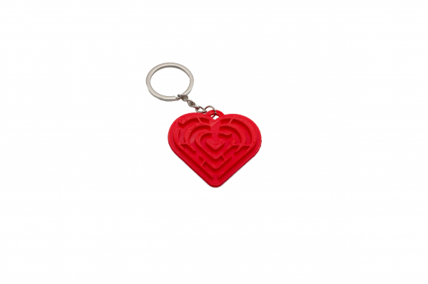 Pair of Maze Hearts keychains [1]