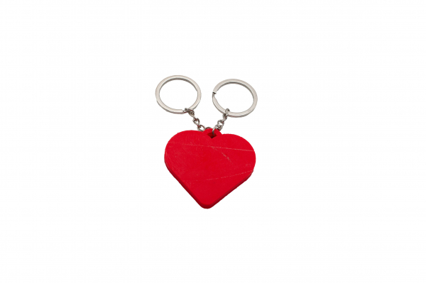 Pair of Maze Hearts keychains [3]