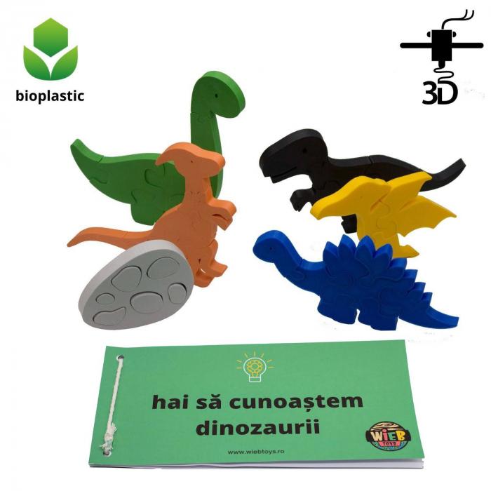 Set de 5 dinozauri, 1 ou de dinozaur, 38 de piese [0]