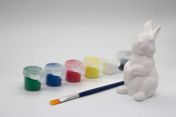 Set de pictat figurina in miniatura iepure, culori acrilice 6x3ml [0]