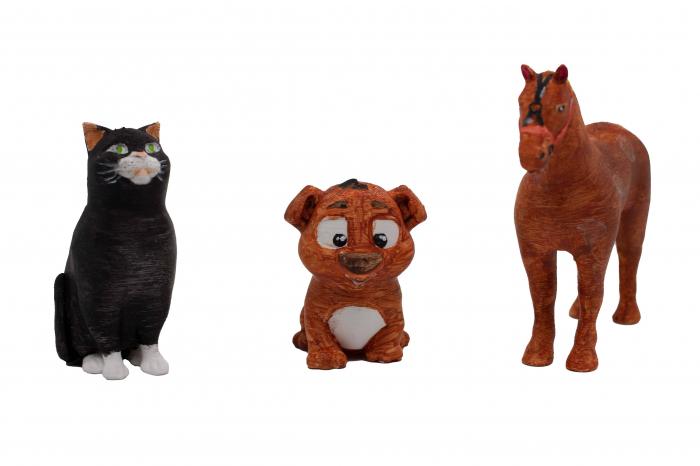 Set de pictat figurine Animale Domestice (3 buc), culori acrilice 6x3ml [2]