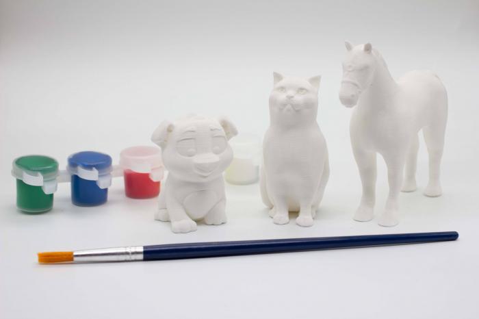 Set de pictat figurine Animale Domestice (3 buc), culori acrilice 6x3ml [0]
