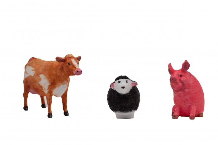 Set de pictat figurine Animale Domestice My little farm (3 buc), culori acrilice 6x3ml [2]