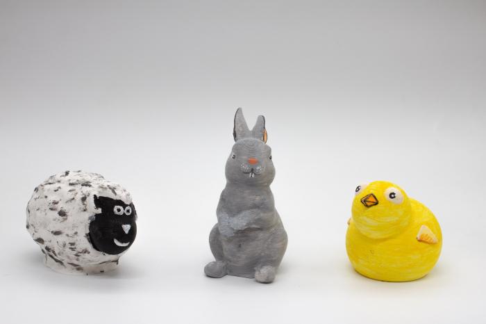 Set de pictat figurine de Pasti (3 buc), culori acrilice 6x3ml [2]