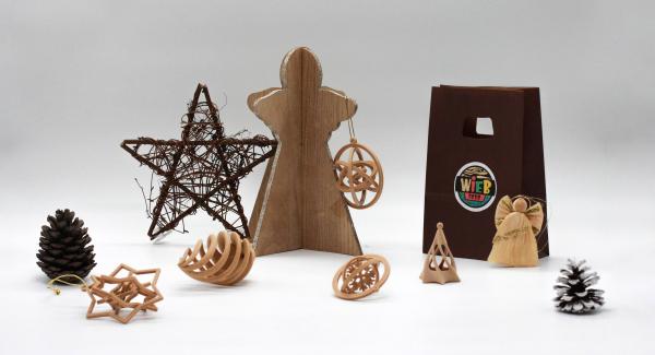 Set decoratiune din Lemn de Brad WiEB 3D [1]
