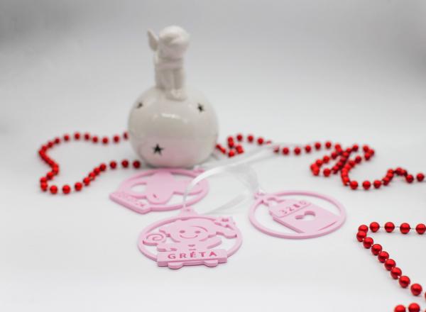 Set Ornament de brad personalizat cu nume - Baby girl - 3 buc [1]