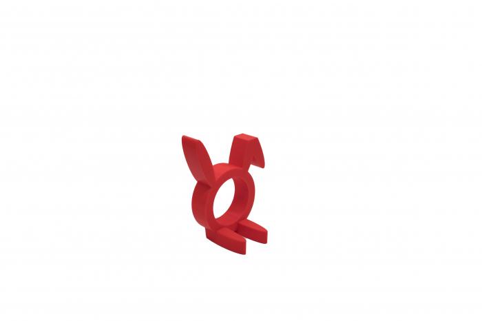 Sitting Rabbit Napkin ring - rosu [1]