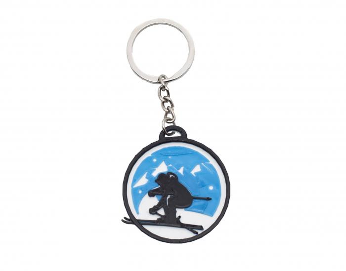 Ski keychain - albastru [0]