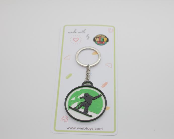 Snowboard keychain - verde [1]