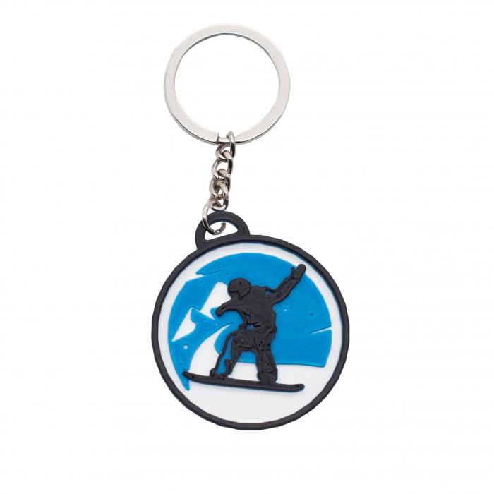 Snowboard keychain - albastru [0]