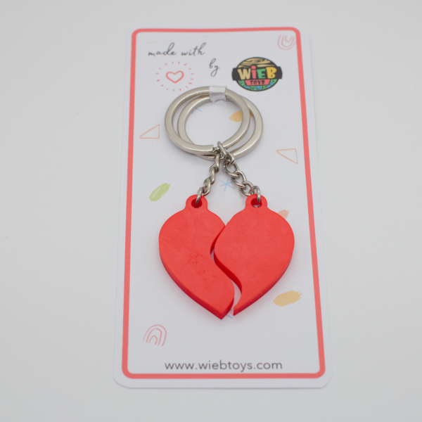 Splitted Heart Couple keychain [3]