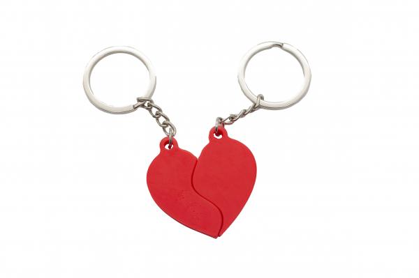 Splitted Heart Couple keychain [0]