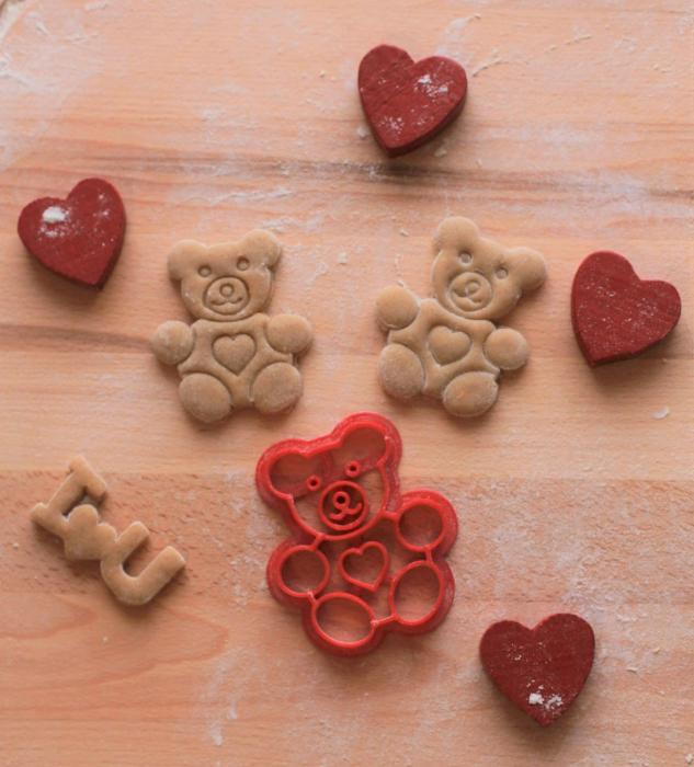 Valentine's day cookie cutter - Bear [2]