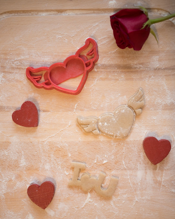Valentine's day cookie cutter - Fly Heart [1]