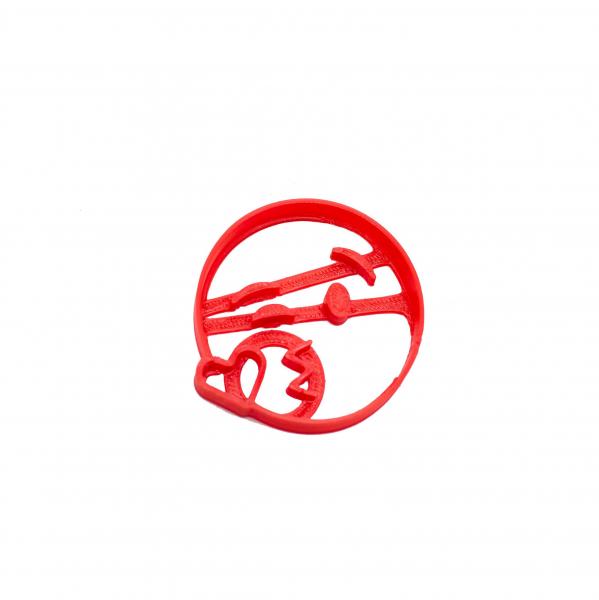 Valentine's day cookie cutter - Heart kiss emoji [0]