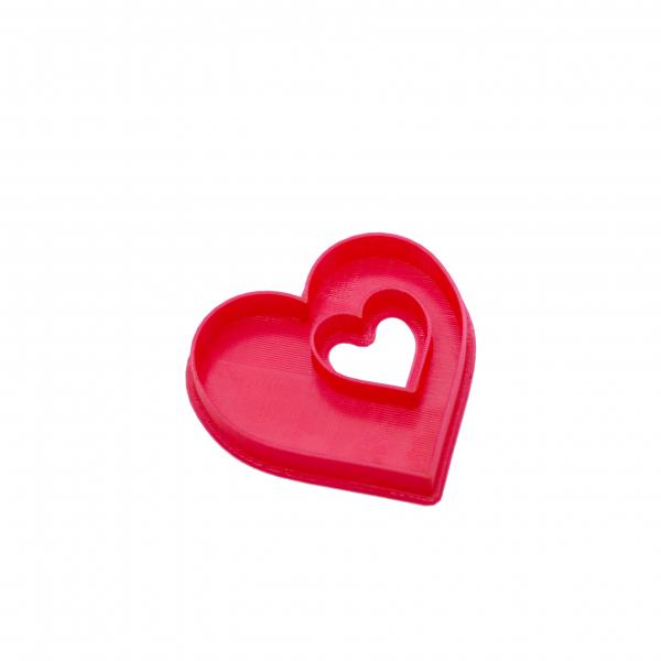 Valentine's day cookie cutter - Heart in heart [0]