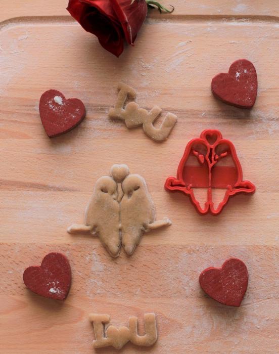 Valentine's day cookie cutter - Love birds [1]