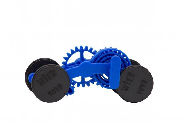 Wind-up Car kit, 16 pieces,  Blue [0]