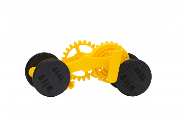 Wind-up Car kit, 16 pieces,  Yellow [0]