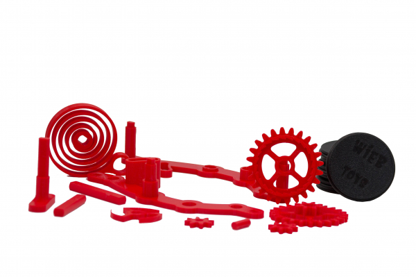 Wind-up Car kit, 16 pieces,  Red [1]