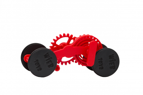 Wind-up Car kit, 16 pieces,  Red [0]