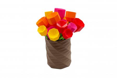 3D Lego Tulip - pink [1]