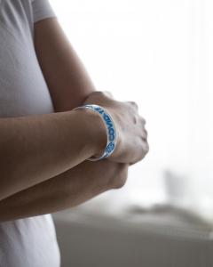 Bratara COVID-19-WOMAN - alb-albastru [2]