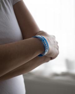Bratara COVID-19-WOMAN - albastru [1]