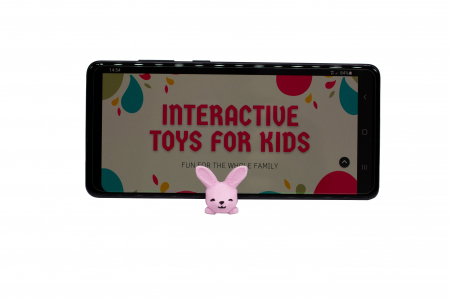 Bunny keychain & phone stand - Pink [1]