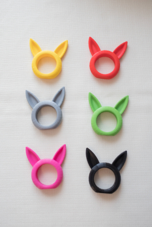 Bunny Napkin ring - negru [4]